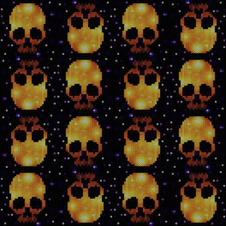 Seamless pattern with skulls vector Vector
