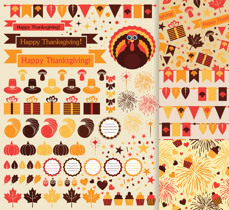 Happy Thanksgiving beautiful clip art Vector