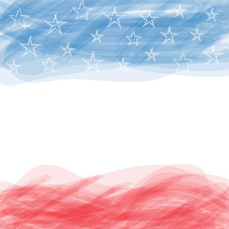 estados unidos bandera: EE.UU. bandera Un cartel con un gran marco rayado y un grunge nosotros bandera para su publicidad Vectores