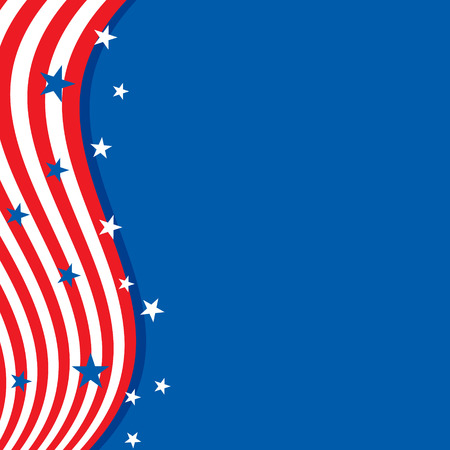 Frame in the colors of the flag of the United States Vektorové ilustrace