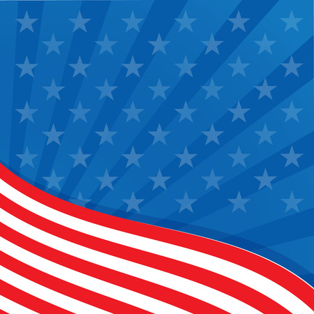 Frame in the colors of the flag of the United States