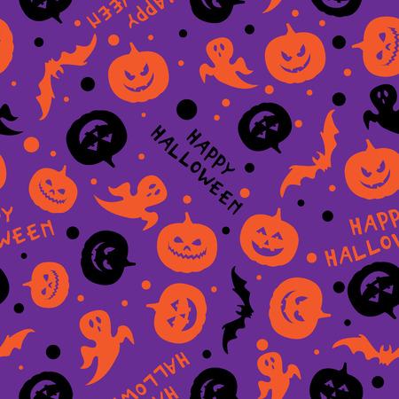 Happy halloween card design vector seamless pattern Vector