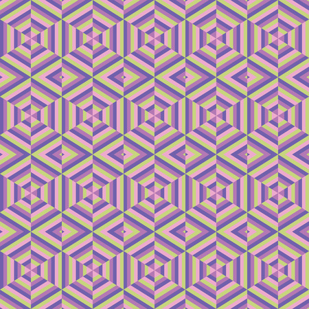 Mosaic different colors, geometric shapes of hexagons  Seamless pattern  Vector