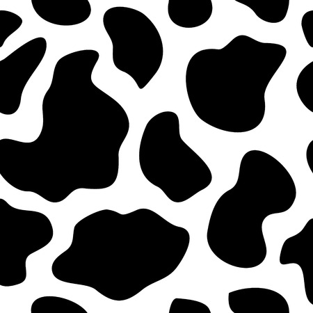 Koe achtergrond naadloze vector illustratie Abstract patroon