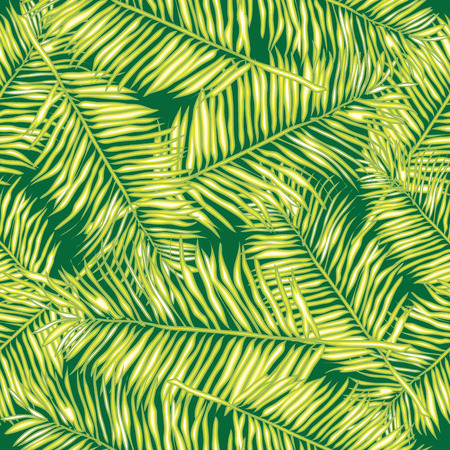 Palm leaves  Seamless vector background  Floral background  Vector