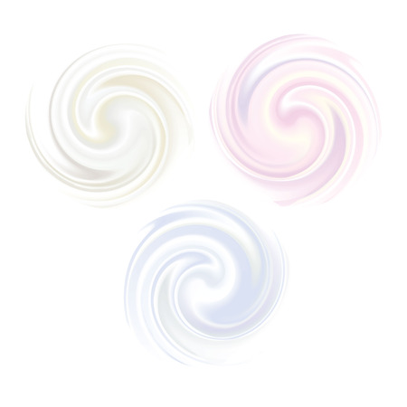 Swirl vector Milk, Yogurt, Cream or cosmetics background pearl