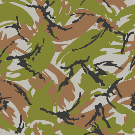 Camouflage seamless pattern  Woodland style vector illustration