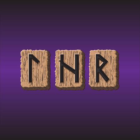 Norwegian Rune icons vector Set of three pieces Stock Vector - 30140118