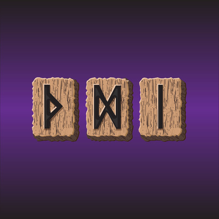 odin: Norwegian Rune icons vector Set of three pieces Illustration