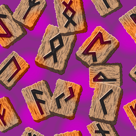 psychic: Norwegian runes Abstract vector background with Template for greeting cards, textiles, packaging esoteric products
