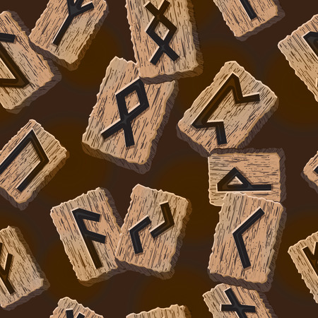 odin: Norwegian runes Abstract vector background with Template for greeting cards, textiles, packaging esoteric products