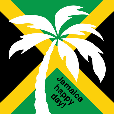 rastaman: Jamaica happy day Greeting card  Vector illustration  Illustration