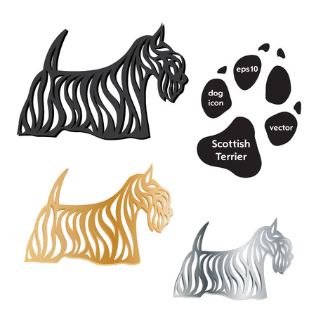 Scottish Terrier dog icon vector on white background Vector