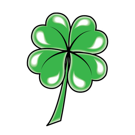Leaf clover icon  Vector object on white background  Vector