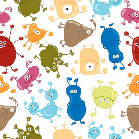 Bacteria  Seamless vector pattern Zdjęcie Seryjne - 30425749