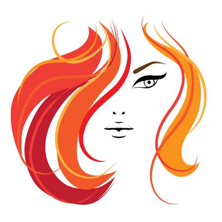 Womans face  Vector illustration  Template for your design  Stock Illustratie