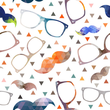 Hipster symbols background Pattern for fabric design, packaging Vector