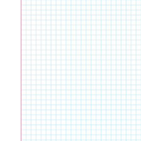 Exercise book in a cage  Vector illustration  Background for design Vector