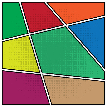 Comics popart style blank layout template background vector illustration Vector