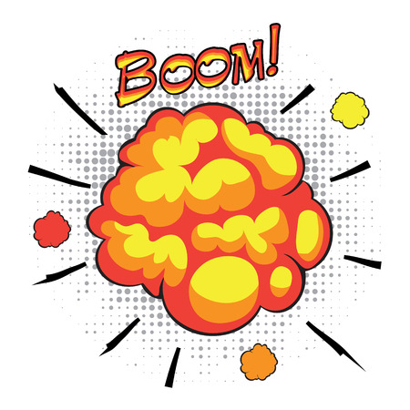 incendiary: Comic book speech bubbles depicting of sounds explosions with motion puffs