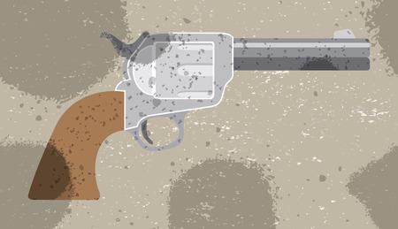 Revolver vector retro background. Vector illustration Pattern for textile design. Vector