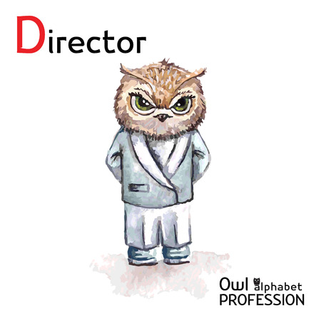 time sharing: Alphabet professions Owl Letter D