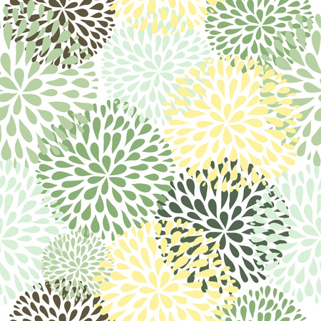 textile pattern: Modern floral texture.