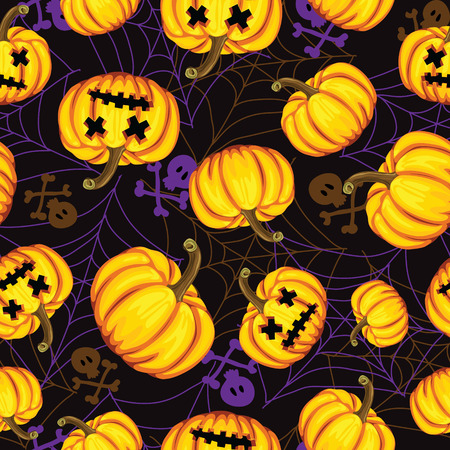Halloween background. vector illustration. Template for design Vector