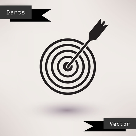 goals: Pictograph of target Vector icon Template for your design