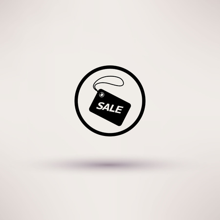 Icon of sale tag Isolated illustration Vector