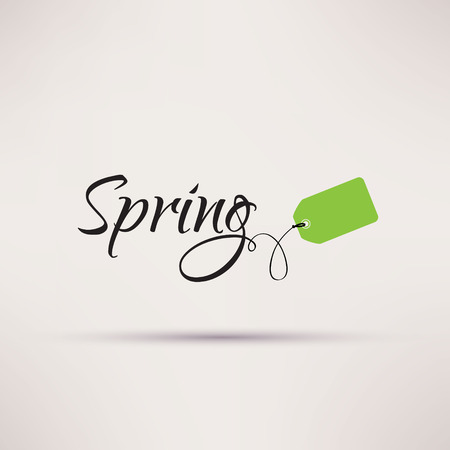 sales promotion: Icon of sale seasonal Spring Isolated Vector illustration