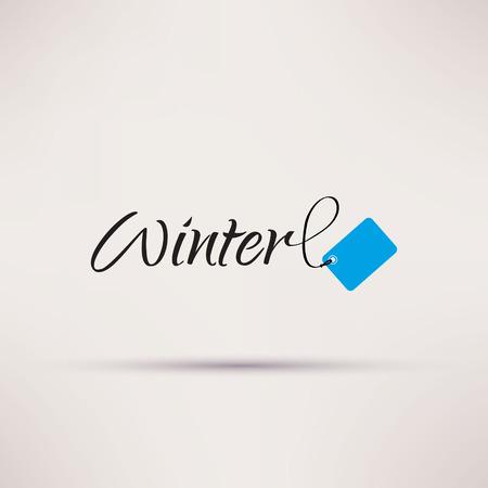 Icon of sale seasonal Winter Isolated illustration Vector