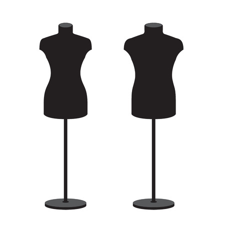 Mannequins for clothes male and female. Vector set
