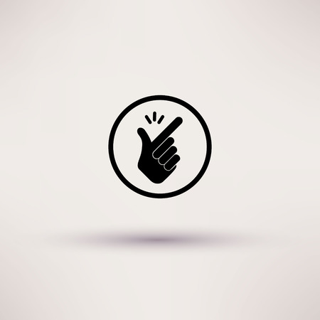 Icon - snap of the fingers. Vector illustrations  イラスト・ベクター素材