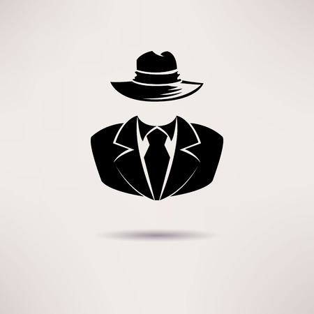 mobster: Icon spy, secret agent, the mafia Vector icon