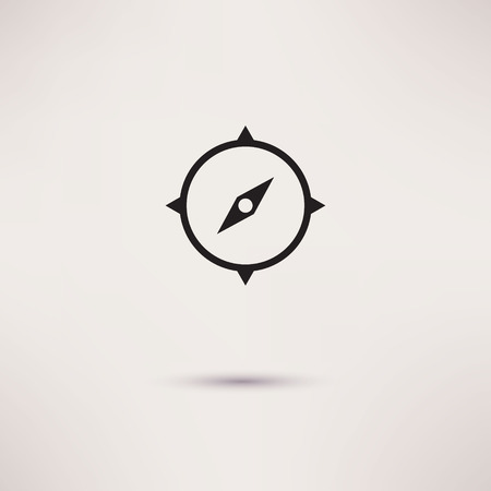 compass vector: Compass Icon in the flat style. vector