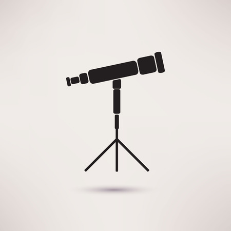 Telescope Icon in the flat style. vector