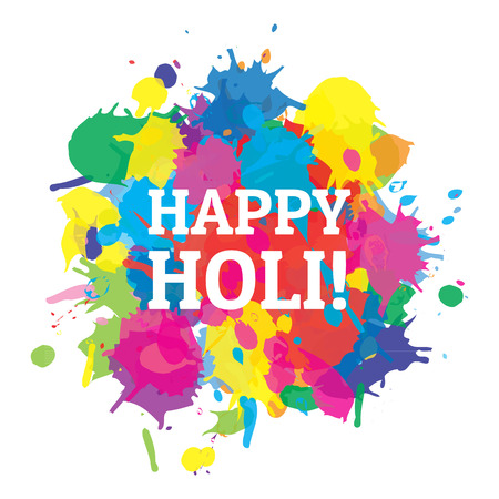 Indian festival Happy Holi colors splash  Illustration