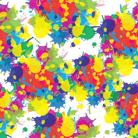 devotion: Indian festival seamless pattern colors splash