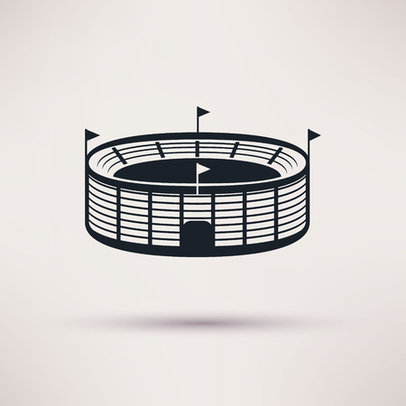 sports stadium vector icons in a flat style