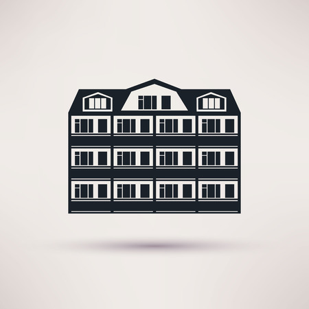 sanatorium: Sanatorium. The building is an icon flat