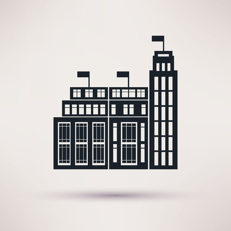 tariff: Customs building. Vector icons in a flat style