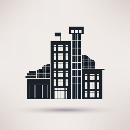 deductions: Tax authorities. Building is an icon flat Illustration