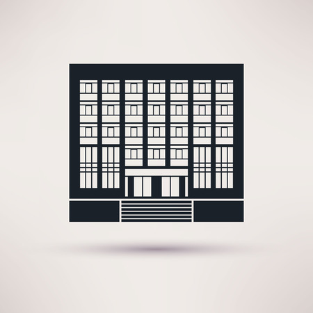 institute: Institute, university. Icon in the flat style Illustration