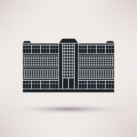 co workers: Business center. Icon in the flat style