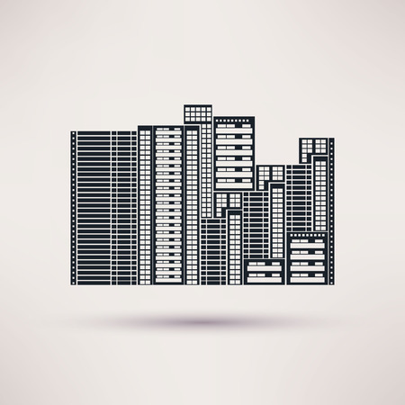 complex: Residential complex. Icon vector in a flat style Illustration