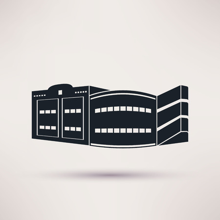 Parking building graphic design, vector flat style