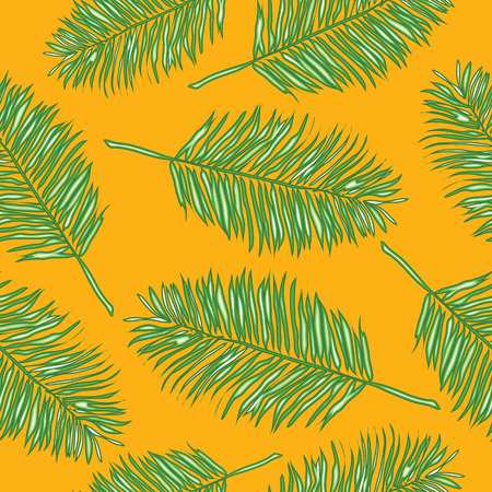 frond: Palm leaves, abstract vector seamless pattern background Illustration