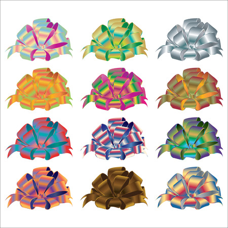 ribbons and bows: Big set of gift bows with ribbons.