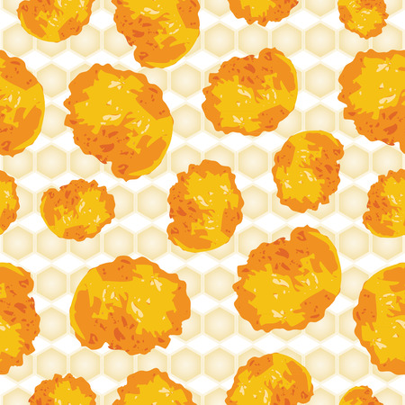 Cornflakes background seamless scattered.